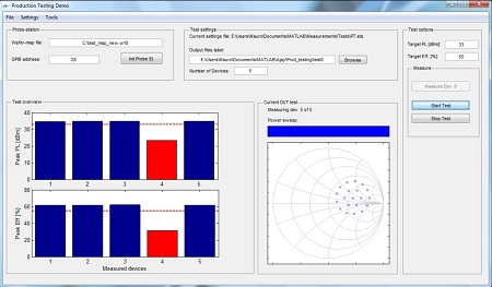 MT1000 and MT2000 On-Wafer Production Test Software